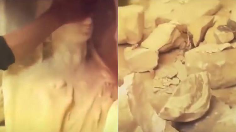 Destruir, demoler, borrar: Vea cómo fue la barbarie del Estado Islámico en Palmira (video)