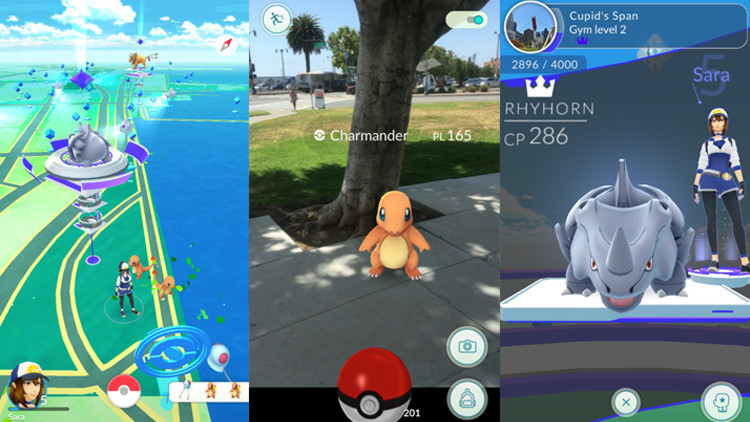 Una escena de caza de los Pokémones