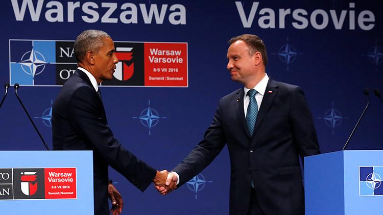Obama anuncia el depliegue de un millar de uniformados estadounidenses en Polonia