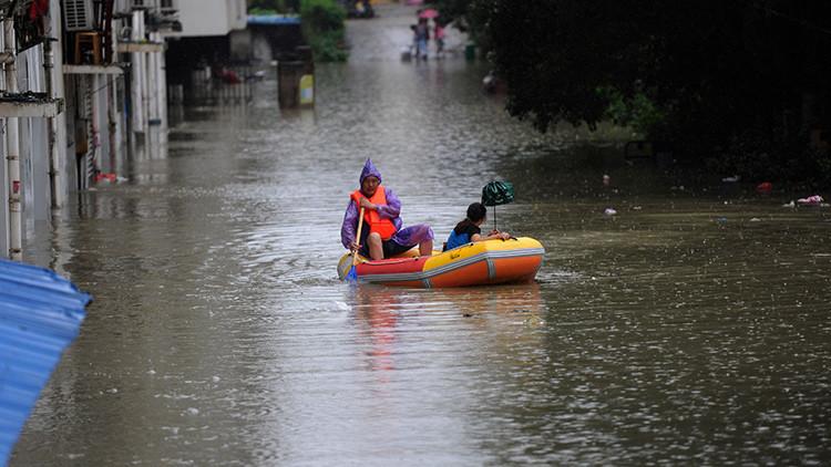 Un centenar de cocodrilos nadan por las calles inundadas de las ciudades de China