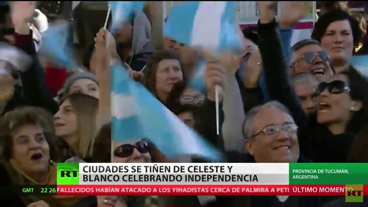 Argentina celebra el bicentenario de su Declaración de la Independencia