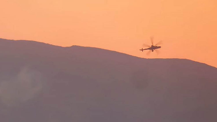 Fuerte video del derribo del helicóptero pilotado por soldados rusos en Siria