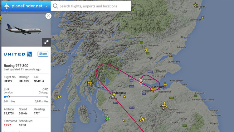 Un avión de United Airlines que unía Londres y Chicago realiza un aterrizaje de emergencia