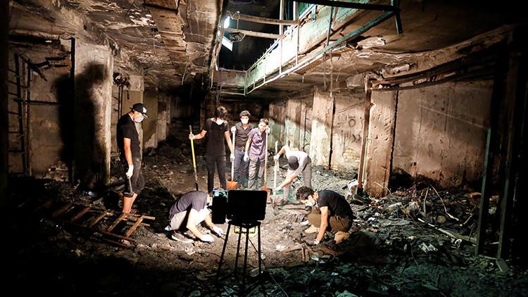 Fuerte video desde el lugar de la explosión en Bagdad que se cobró la vida de 12 personas (18+)