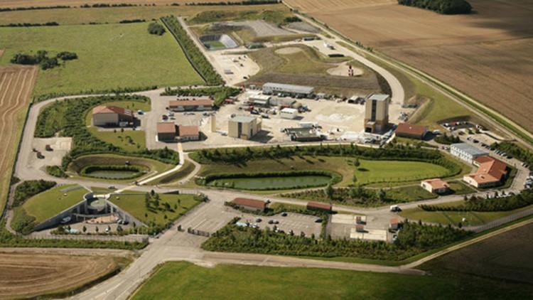 Vista aérea del Centro Industrial de Almacenamiento Geológico (Cigeo) planeado en Bure (Francia).