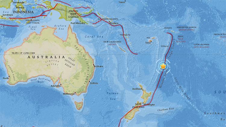 Dos intensos sismos sacuden las islas Kermadec de Nueva Zelanda