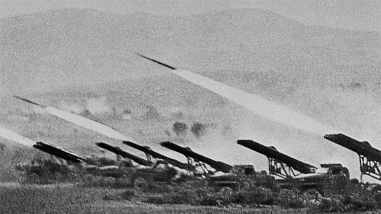 La primera instalación lanzacohetes múltiple del mundo
