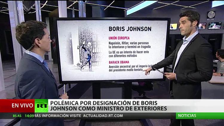 Reino Unido: La designación de Boris Johnson como ministro de Exteriores genera polémica