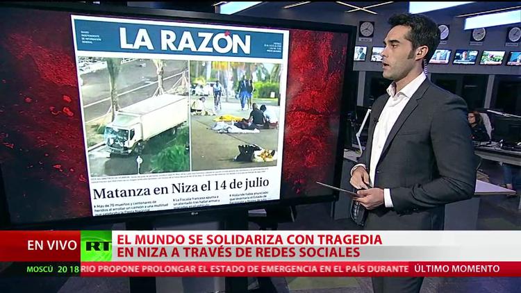El mundo se solidariza con la tragedia de Niza a través de las redes sociales