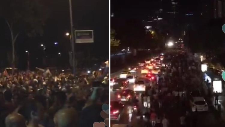 Video: Estallan protestas en Turquía mientras se desarrolla el golpe militar