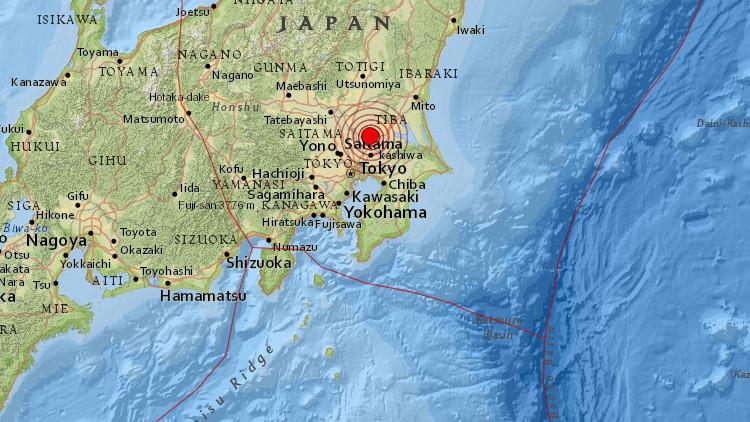Tokio: Un sismo de magnitud 5,1 hace temblar edificios