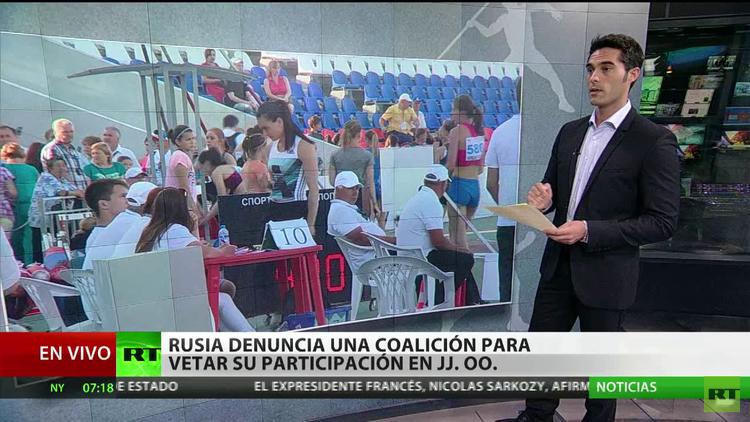 Rusia denuncia una coalición para vetar su participación en JJ.OO. de Río