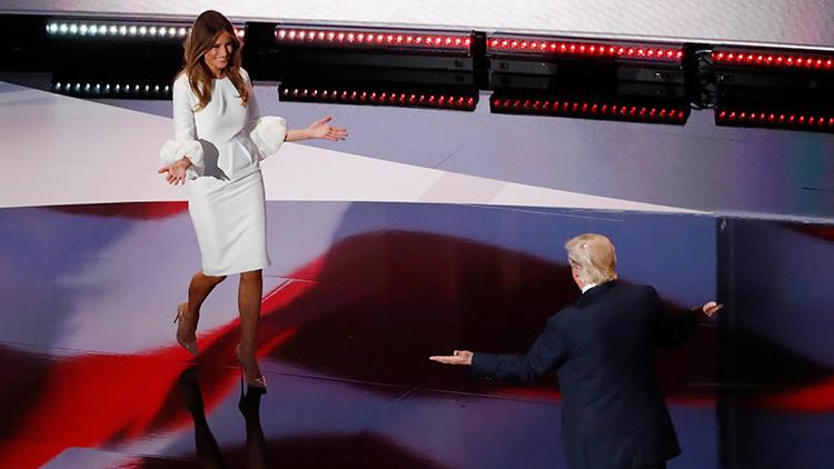 """Trump: """"Los medios analizan el discurso de Melania más que FBI los correos de Hillary"""""""