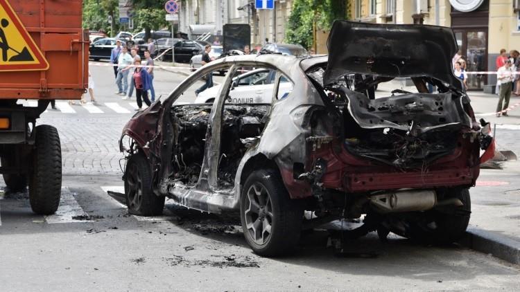FUERTE VIDEO: El momento de la explosión del coche del periodista asesinado en Kiev