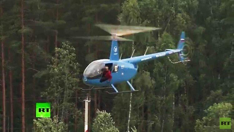 A vista de pasajero: Campeonato de pilotos de helicópteros en Rusia (VIDEO 360º)