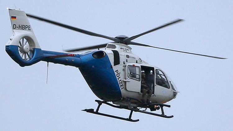 Un helicóptero con francotirador en Múnich, 22 de julio de 2016.
