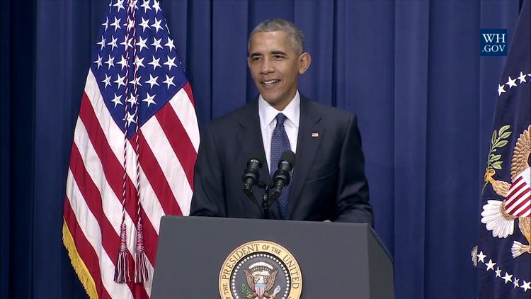 Obama bromea en su discurso sobre el tiroteo de Múnich (video)