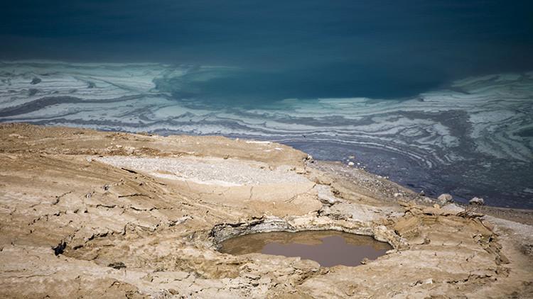 Un dron evidencia que el mar Muerto está en las últimas (video)