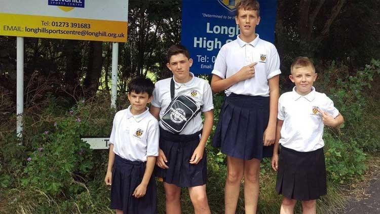 A estos chicos les prohibieron ir al colegio en pantalón corto y hallaron esta ingeniosa solución