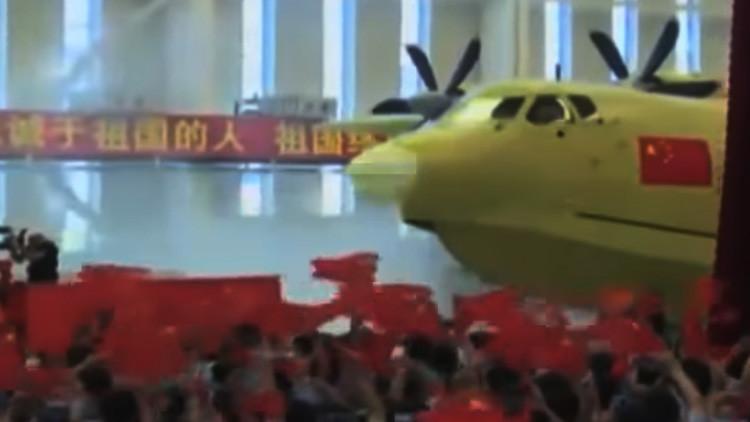 Video: China presenta el mayor avión anfibio del mundo
