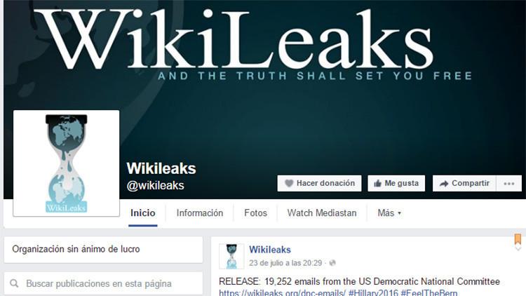 Facebook admite que bloqueó revelaciones de Wikileaks tras ser acusado de censura