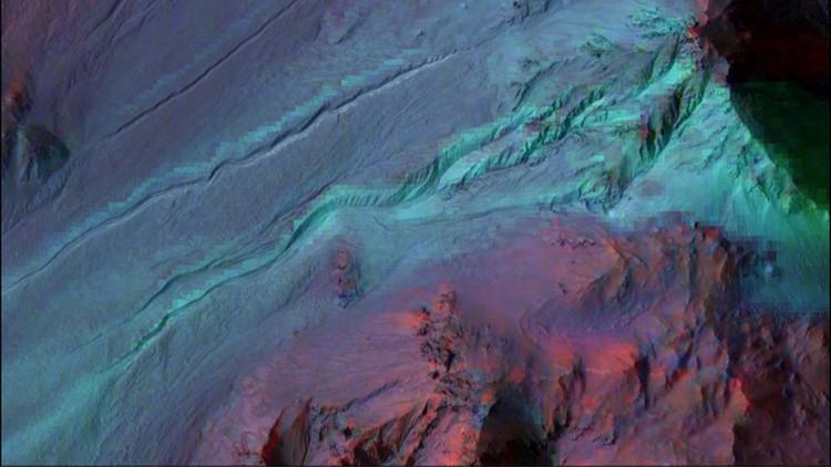 Estas profundas zanjas en la superficie de Marte no son lo que se creía