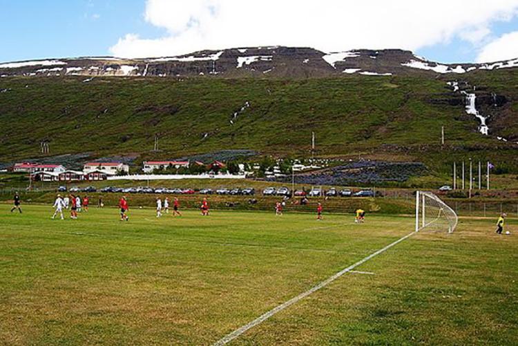 Un estadio en la ciudad de Fjardabyggd