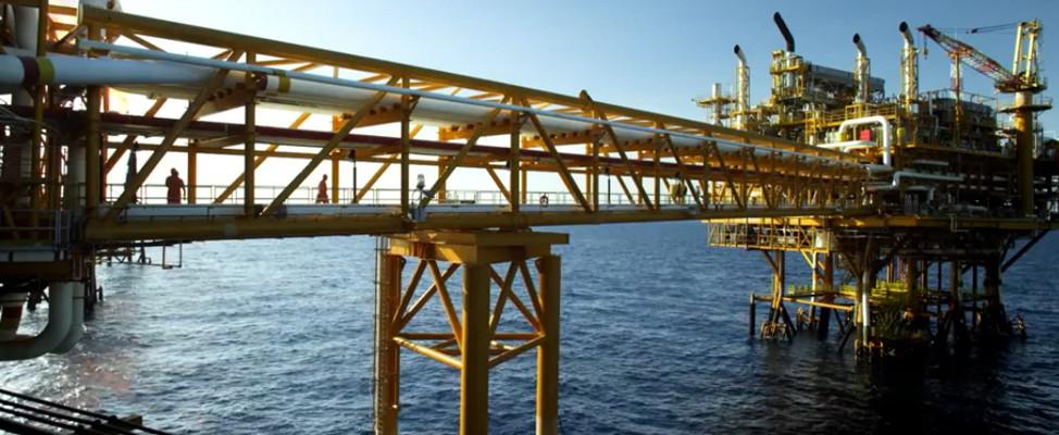 Plataforma petrolera de Pemex en el Golfo de México