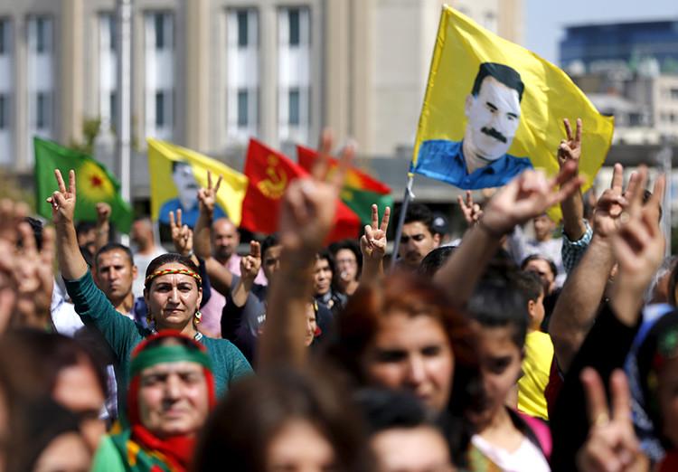 Protesta en Bruselas (Bélgica) contra las operaciones del ejercito turco contra los militantes kurdos / Reuters