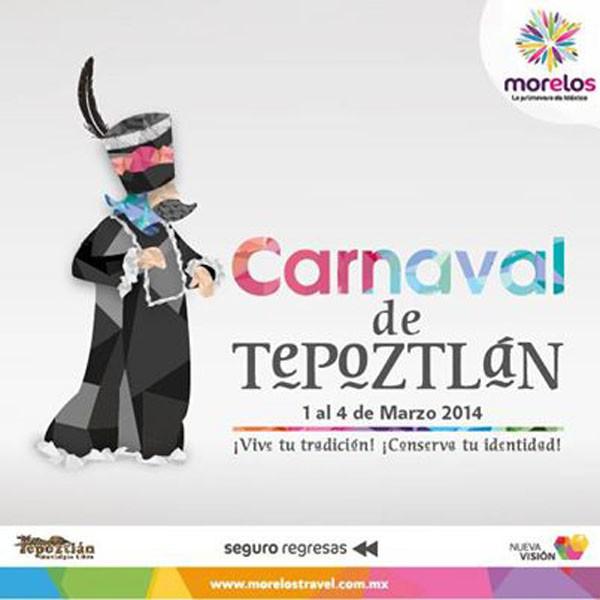 Publicidad oficial del carnaval de Tepoztlán.