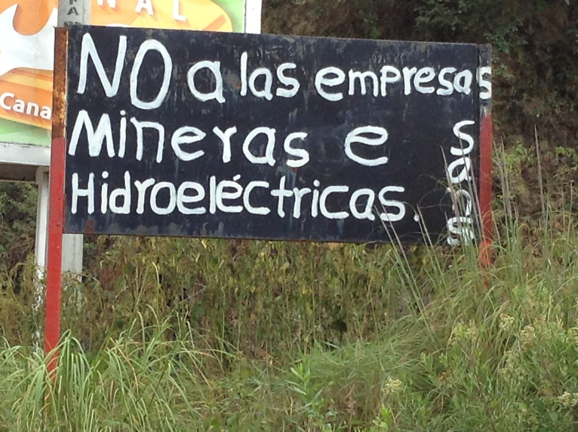 No a las empresas mineras en Mesoamérica.