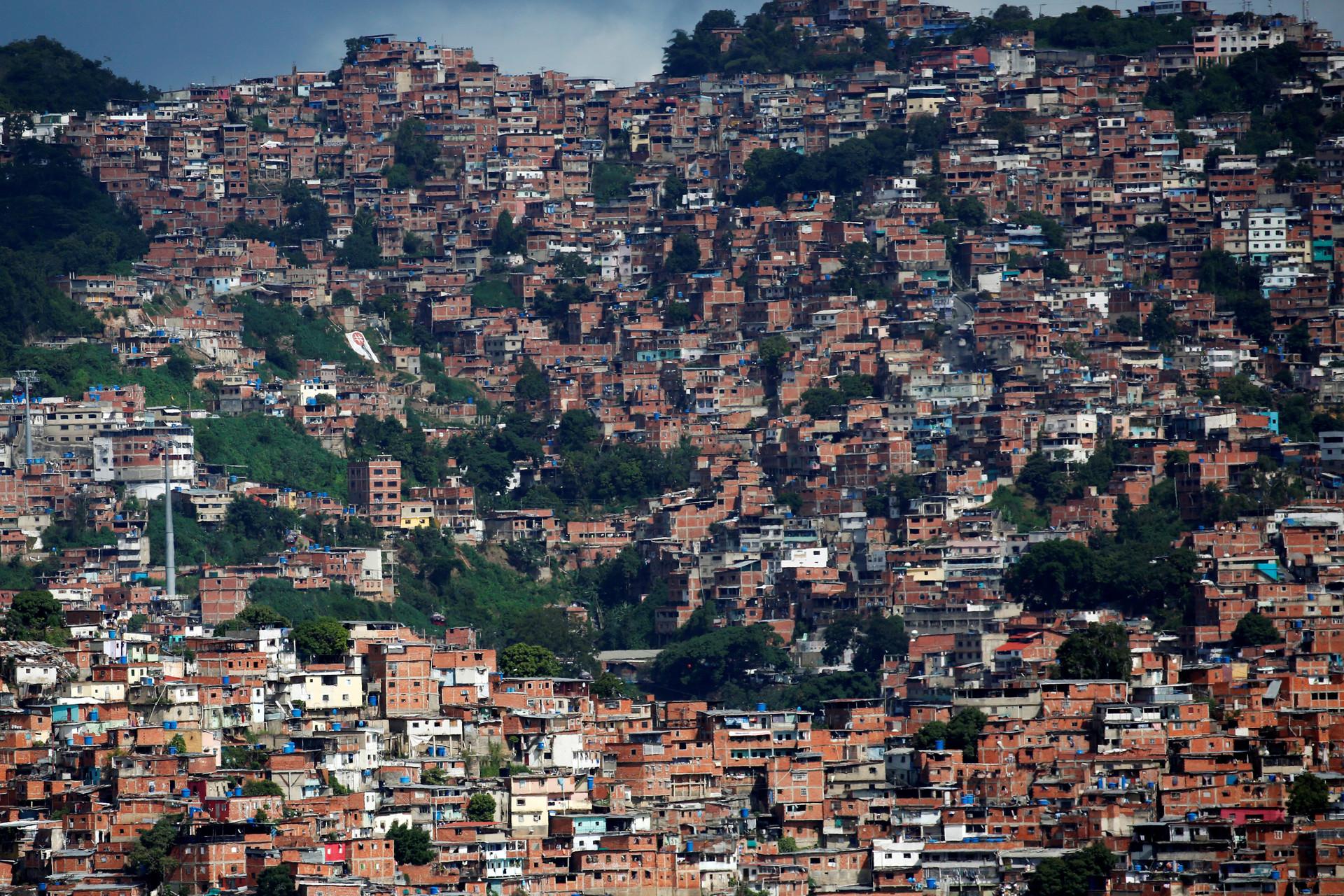 Vista general del barrio caraqueño de Petare. 14 de julio de 2016