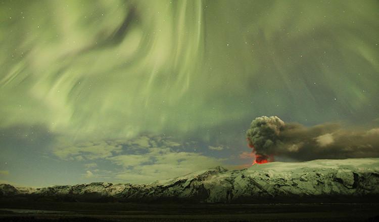 El volcán Eyjafjallajokull en Islandia, el 22 de abril de 2010