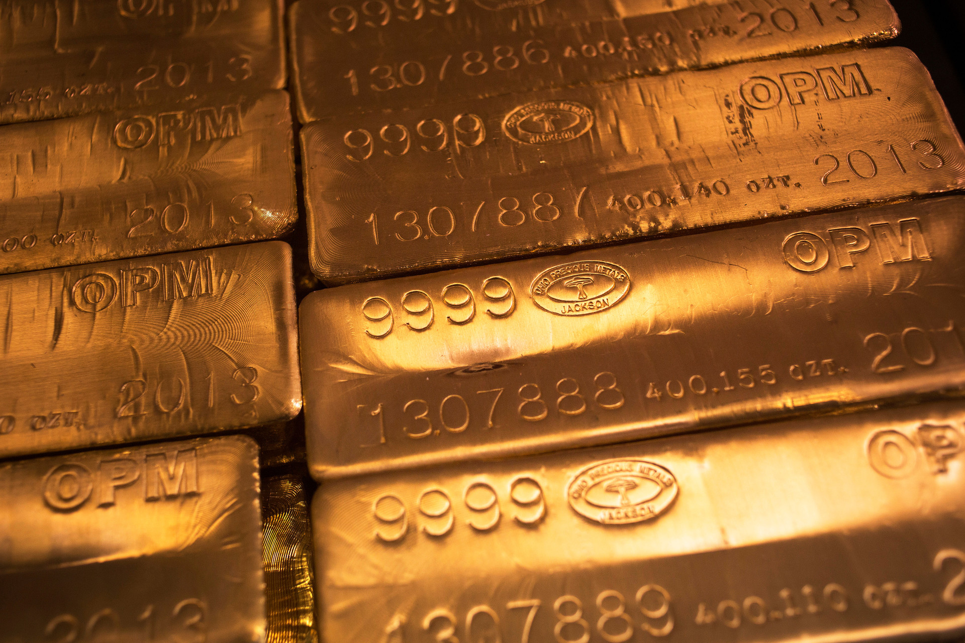 Barras de oro de 24 quilates
