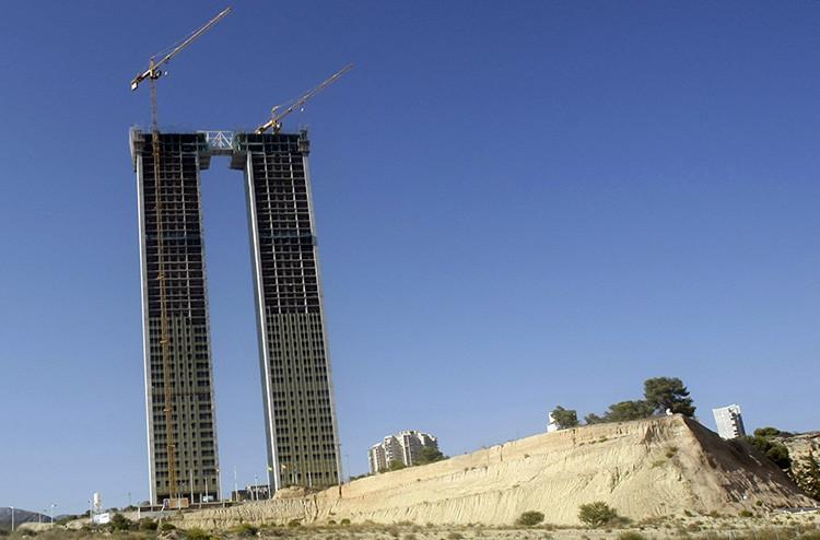 Edificios en construcción en Benidorm (España).