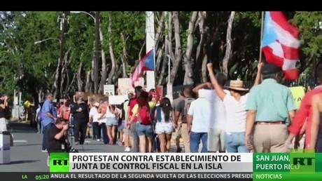 Protestas en Puerto Rico en rechazo al control fiscal que instala EE.UU.