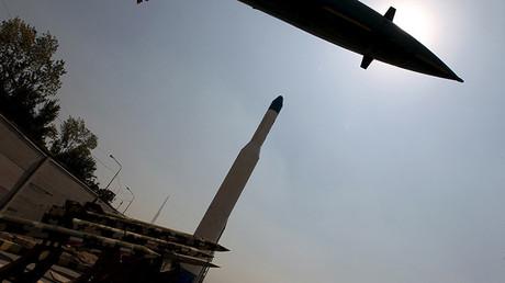 Misiles fabricados en Irán, en el Museo de la Sagrada Defensa de Teherán.