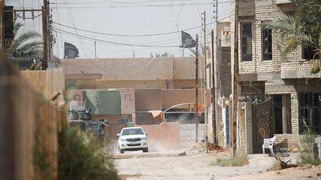 Una ciudad controlada por el Estado Islámico en Irak