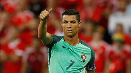 El jugador portugues Critiano Ronaldo
