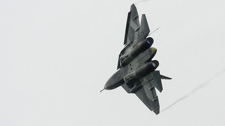 Un caza T-50 de la aviación rusa