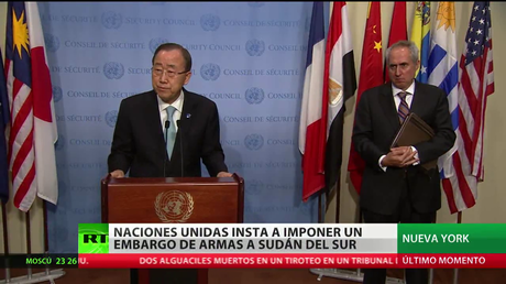 La ONU exige imponer un embargo de armas a Sudán del Sur