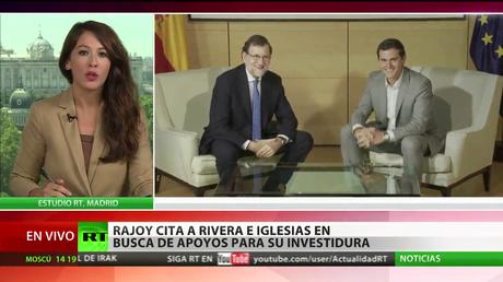 Rajoy cita a Rivera e Iglesias en busca de apoyos para su investidura
