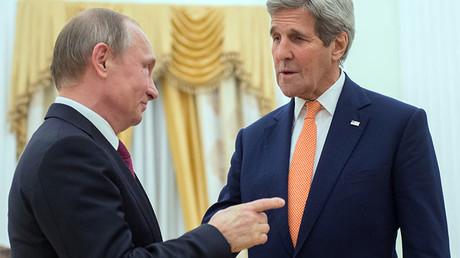 John Kerry y Vladímir Putin