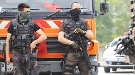 Fuerzas de seguridad desplegadas en las calles de Ankara