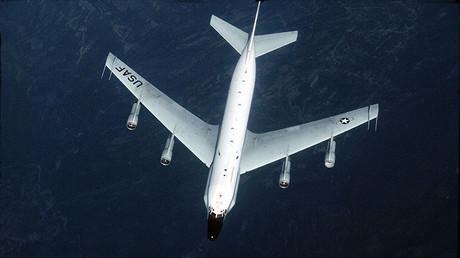 Un avión de la Fuerza Aérea de EE.UU., RC-135