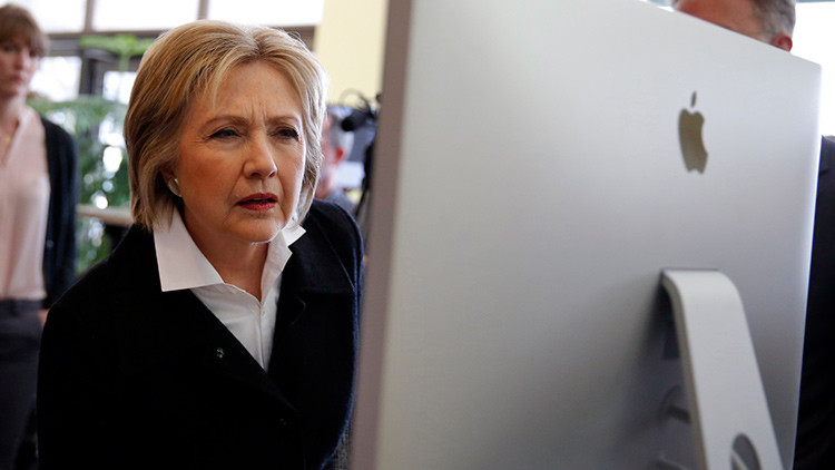 La candidata demócrata a la presidencia de EE.UU., Hillary Clinton