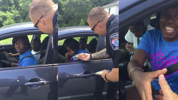 Video: Policía de EE.UU. para a los automovilistas por conducir sin helado