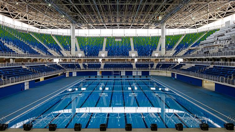 Evacúan en Brasil pabellón acuático donde se disputarán los JJ.OO. por amenaza de bomba