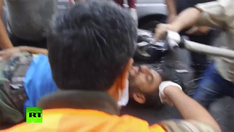 FUERTES IMÁGENES: Primer video del ataque con armas químicas en Alepo
