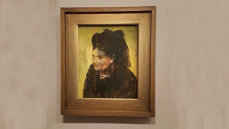 Descubren un retrato oculto en una obra del impresionista Degas (fotos)